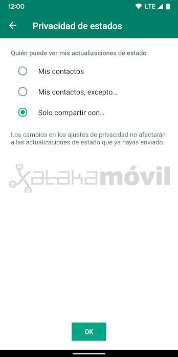 Whatsapp Privacidad Estados