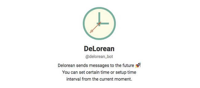 Telegram Contact Delorean Bot