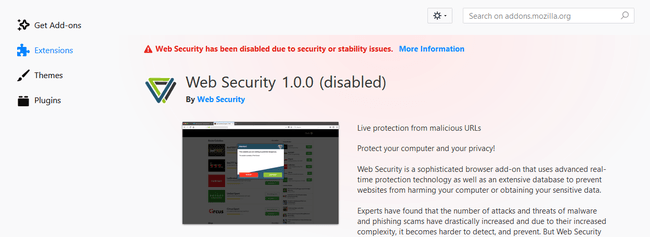Websecurity Removed