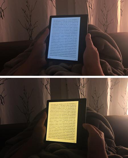 Comparación luz fría y cálida en el Kindle Oasis