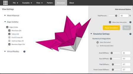 Origami Opciones Avanzadas