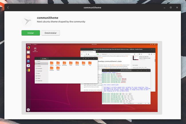 Tema De La Comunidad Centro De Software Ubuntu