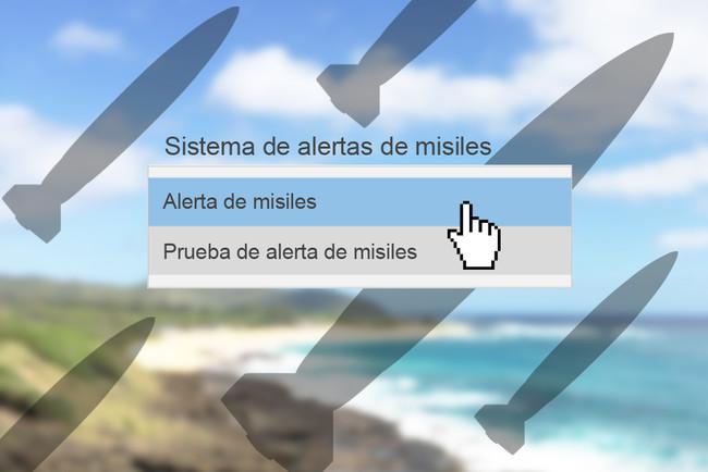 Interfaz Alerta De Misiles Hawai