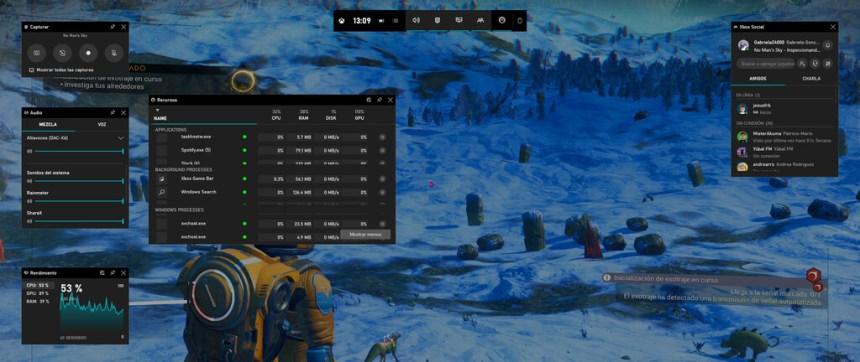La barra de juego de Windows 10 ahora tiene su propio Administrador de tareas para que mates procesos molestos sin dejar de jugar