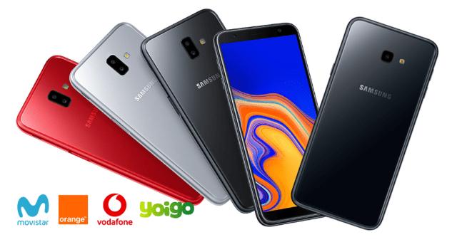 Samsung Galaxy℗ J6+ y Galaxy℗ J4+ llegan al inventario de Movistar, Vodafone, Orange℗ y Yoigo:  precios a plazos