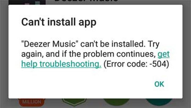 Error 504 Google Play