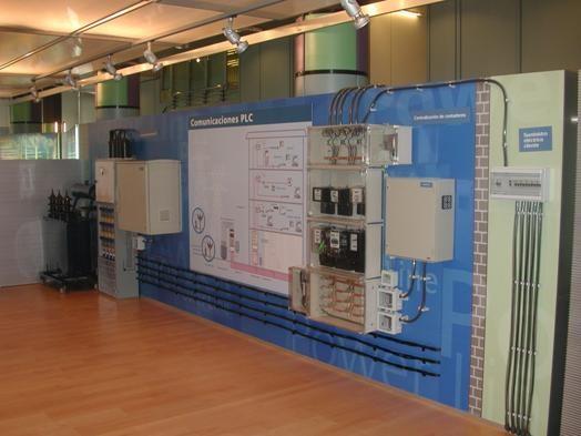 Maqueta de una instalación de PLC