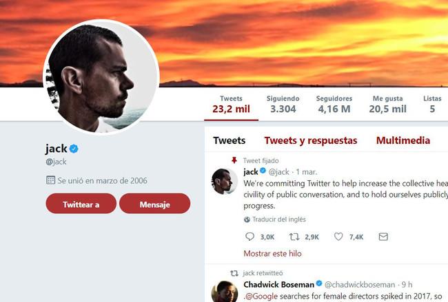 Jack Dorsey Twitter® Cuenta Verificada