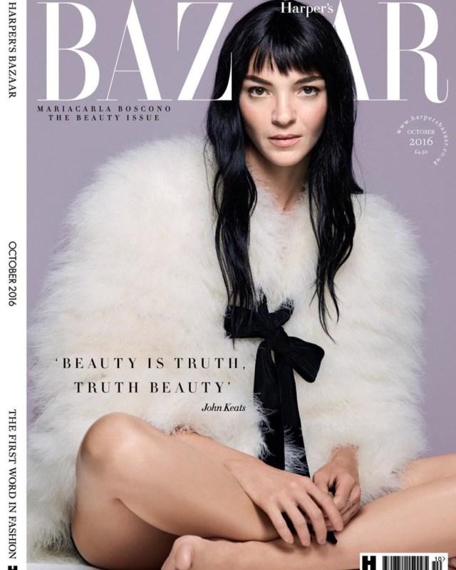 Harper's Bazaar UK: Mariacarla Boscono