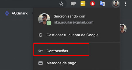 Contrasenas Chrome
