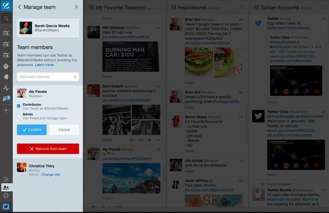 Grupos de usuarios en Tweetdeck