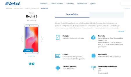 Xiaomi Redmi 6 Telcel Mexico