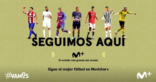 Fútbol en Movistar: precios, canales y condiciones para visualizar la temporada 2021/2022