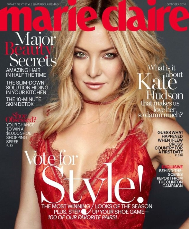 Marie Claire USA: Kate Hudson