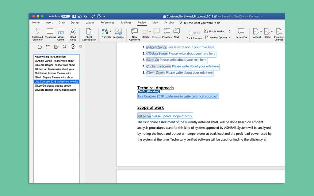 Microsoft Word incorporará una lista de tareas para decir adiós a los documentos desordenados