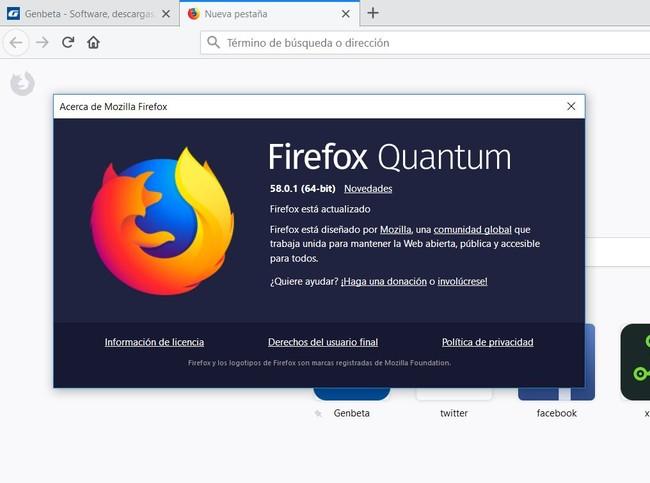 Firefox 58 Quantum Actualizacion Vulnerabilidad