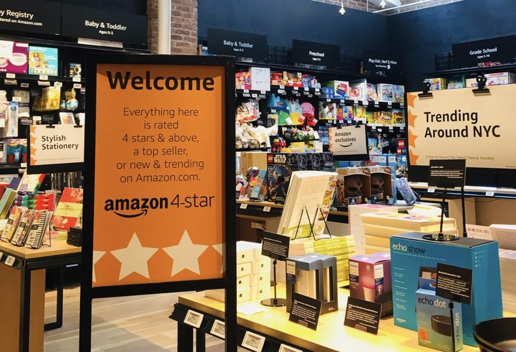 Abre Amazon® 4-star, la bazar física donde todos los productos tienen una valoración de 4 o mas estrellas y reseñas impresas