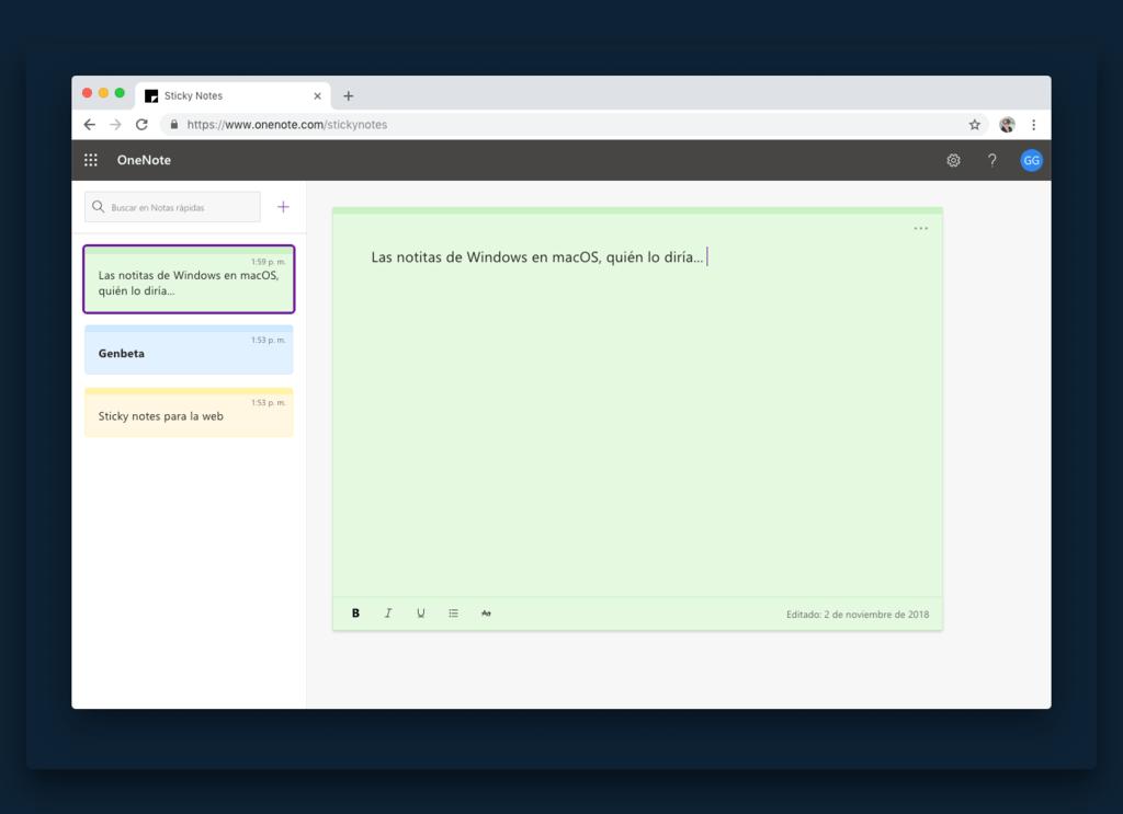 Las Sticky Notes de Windows ahora tienen version web(www) con sincronización que podrias aprovechar desde cualquier dispositivo
