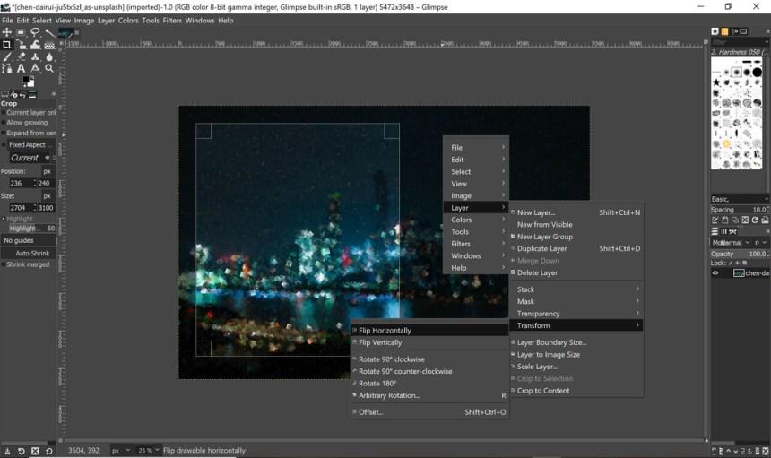 Glimpse 0.2: el fork de GIMP para Windows, Linux y macOS ahora se parece un poco más a Photoshop