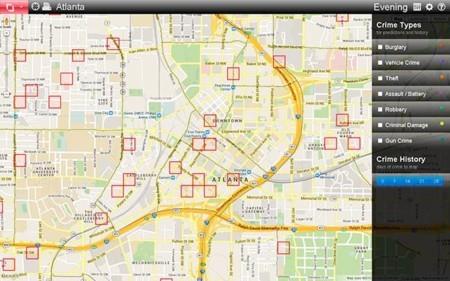 Mapa De Predpol Con Su Evaluacion De Riesgos Por Zonas