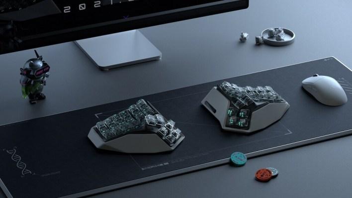 Este peculiar teclado se vende como NFT, está inspirado en 'Westworld', dice ser ergonómico y cuesta más de 1.500 dólares