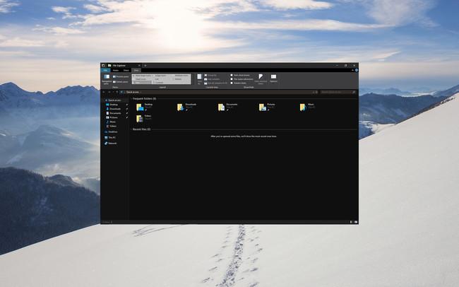 Nuevo Explorador De Windows Tema Oscuro