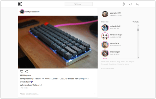 Instagram Historias Web