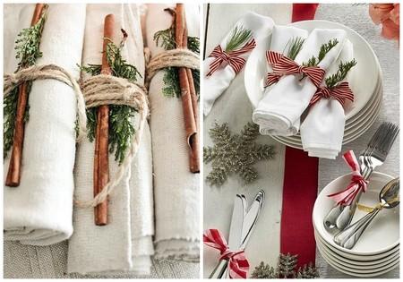 Servilletas De Lino Mesa Navidad