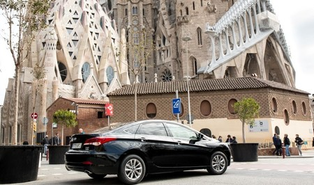 Un vehículo VTC de Cabify en Barcelona