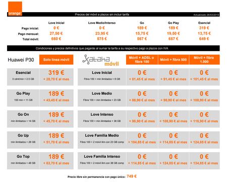Precios Huawei® P30 Con Pago A Plazos Y Tarifas Orange