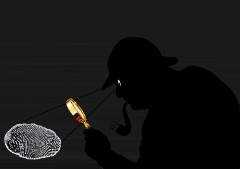 Sherlock Holmes y huella.