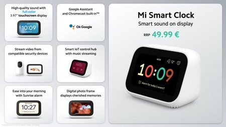 Mi Smart Clock Funciones