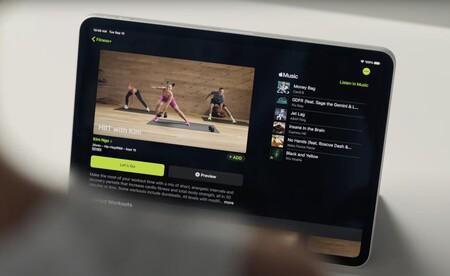 fitness classes on iPad