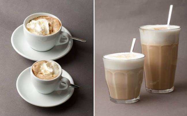Diferentes tipos de cafés