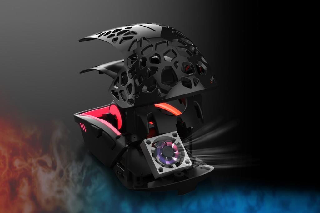 El Zephyr de Mindshunter es un ratón gaming con ventilador RGB pensado para los jugadores con manos sudorosas