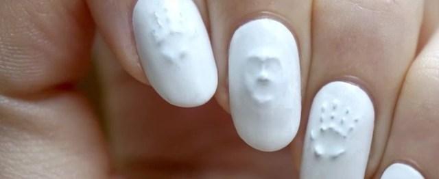 3d Ghost Halloween Nail Art