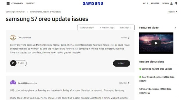 Samsung Issues
