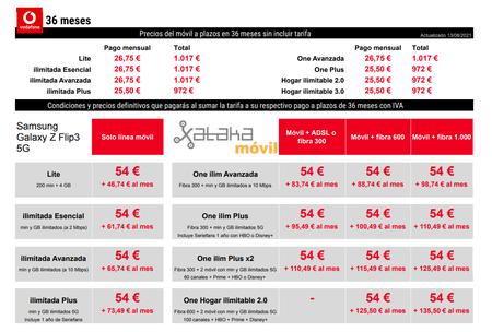 Precios Samsung℗ Galaxy℗ Z Flip3 Con Pago A Plazos Y Tarifas Vodafone