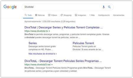 Divxtotal Buscar Con Google Google Chrome 2019 10 14 16 45 33