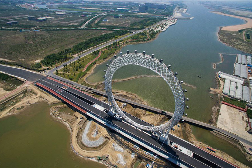 Bailang River Bridge Ferris Wheel Designboom 05 18 2017 818 003