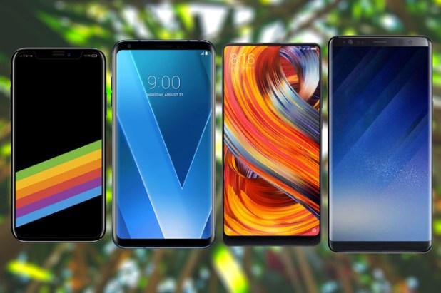 iPhone X vs Note 8 vs Mi Mix 2 vs LG V30 comparativa
