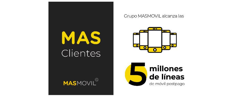 El Grupo MásMóvil ha superado ya los cinco millones de líneas moviles de contrato