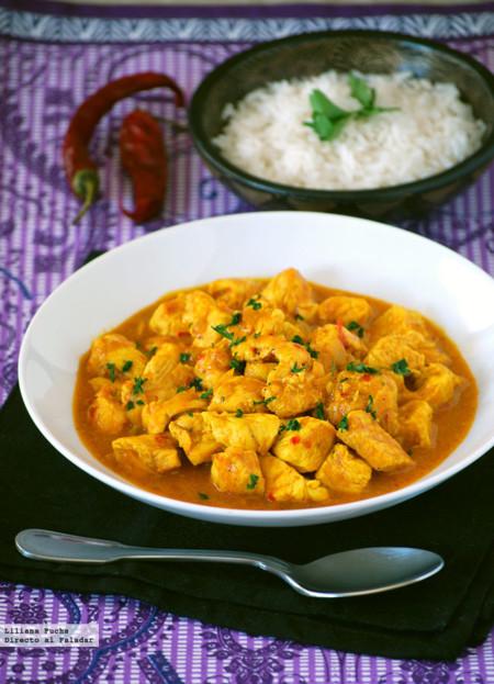 Pollo al Curry en 10 minutos