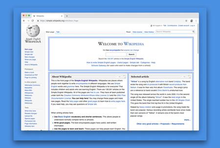 Pantalla principal de la Wikipedia