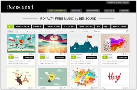 Royalty Free Music By Bensound Google® Chrome® 2018 once 02 17 31 35