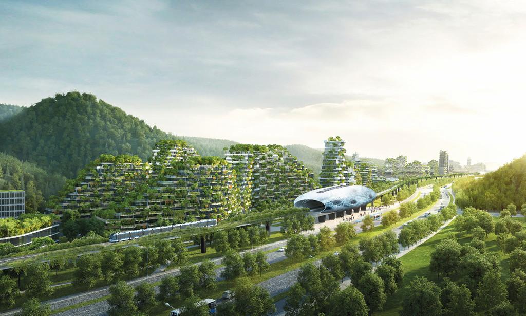 Stefano Boeri Architetti Liuzhou Forest City View tres Copy