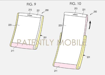 Patente de pantalla enrollable de Samsung