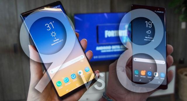 Galaxy Note 9 vs Galaxy℗ Note 8