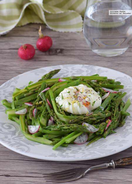 Asparagus poached egg salad