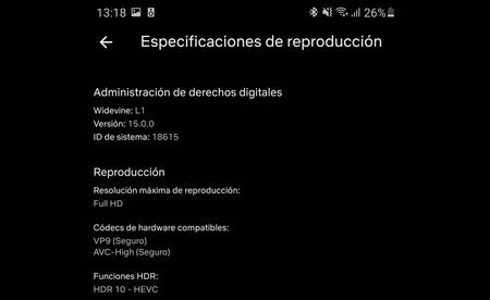 Calidad Netflix Android